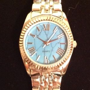 QUART WATCH BLUE FACE 1 INCH FACE